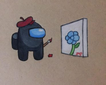Here's a little arty boi. He's really proud of his painting