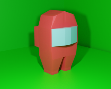 I've been learning blender and made an Among Us Crewmate as a joke but I think it turned out pretty well