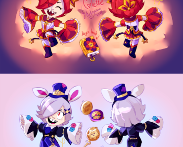 skin ideas i won't submit to Make Campaign since they don't fit the topic - Magical girl Colette and Colette in Brawlerland