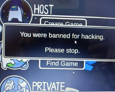 I was just playing a normal Public lobby In the server of Europe,And I got banned for hacking for no reason?..I was the imposter in that round and was trying to defend myself and when I was accused of a kill I tried to defend myself and ofcourse because of the chat cooldown I was spamming the enter.