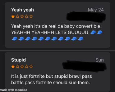 I was looking at the reviews because I was bored and found these gems.
