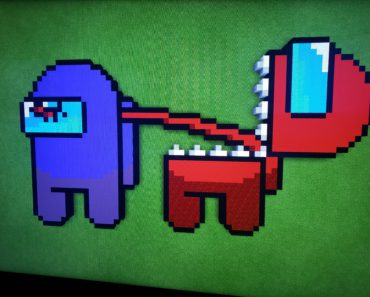 My 10 year old made this awesome pixel art, it was removed from a different sub... thought y'all might appreciate it here