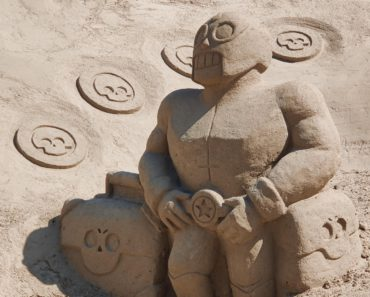 Just an El Primo statue made of sand in a Finnish town Lappeenranta