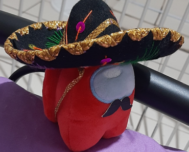 Bought a tiny Sombrero and it fits. I made the made the tiny mustache, i think it looks really cute.😊