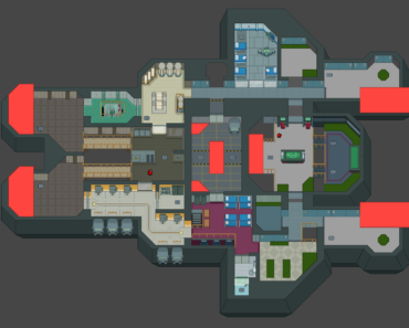 My custom map is starting to shape up! You can test it now at Itch.io link in the comments!